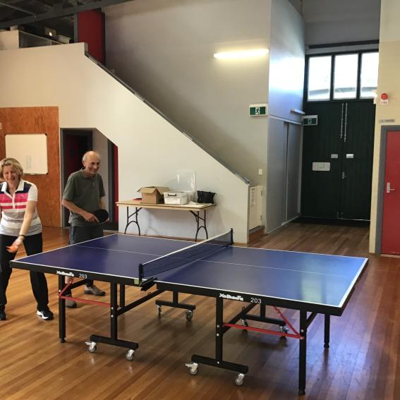 Table tennis at the Drill hall