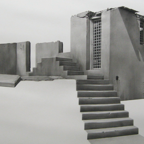 Catherine O'Donnell, Silent Sentinel, 2013, charcoal on paper, 150 x 216 cm, Mosman Art Collection
